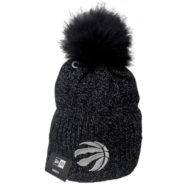 Toronto Raptors Ladies Dazzle Knit II Cuffed Pom Toque