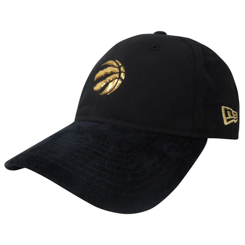 Toronto Raptors Men's Authentic On Court Black and Gold 920 Adjustable Hat