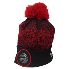 Toronto Raptors Men's Authentic On Court Black and Red Cuffed Pom Toque