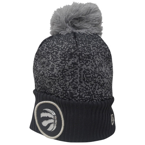 Toronto Raptors Men's Authentic On Court Grey Cuffed Pom Toque