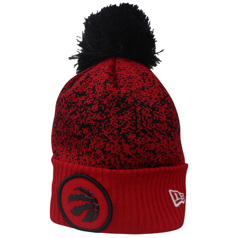 Toronto Raptors Youth Authentic On Court Red and Black Cuffed Pom Toque