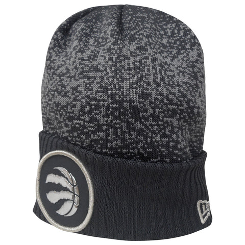 Toronto Raptors Youth Authentic On Court Grey Cuffed Pom Toque