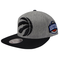 Toronto Raptors Men's Metallic XL Logo Snapback Hat