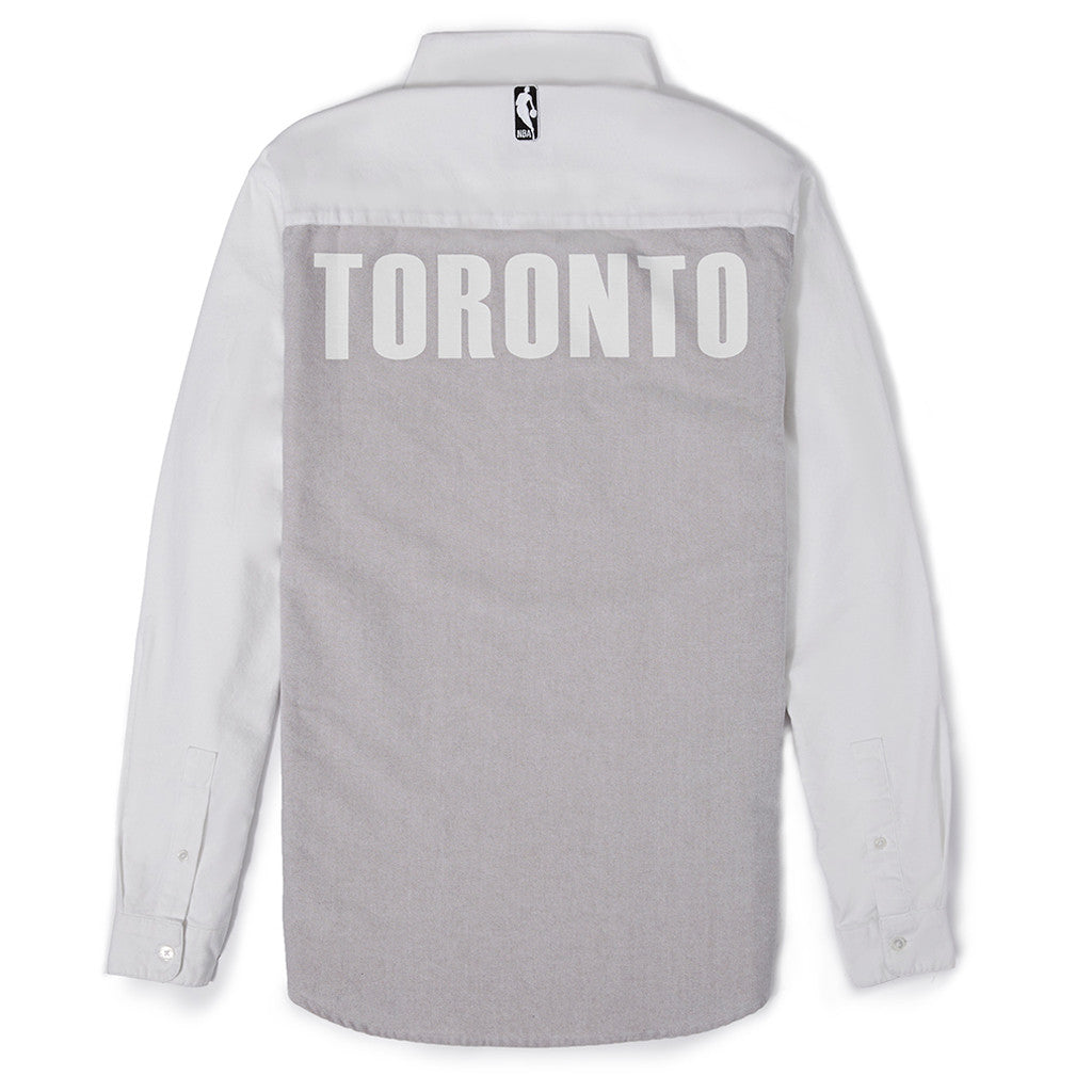 Toronto Raptors Frank & Oak Men's Oxford Pull-Over L/S - shop.realsports - 2