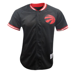 Toronto Raptors Mitchell & Ness Men's Seasoned Pro Mesh Button Front