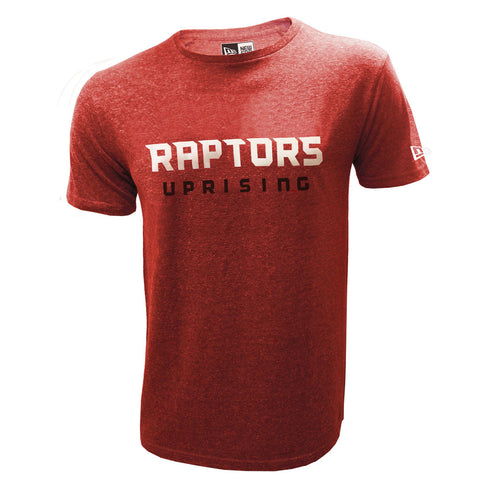 Toronto Raptors Uprising Men's Red Triblend S/S Tee