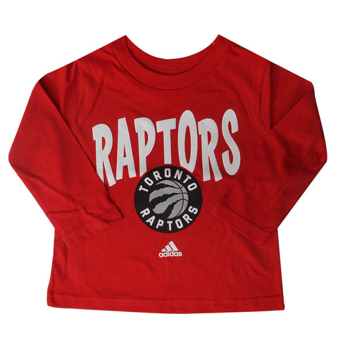Toronto Raptors Toddler Front Whirlwind Scripted Long Sleeve Shirt
