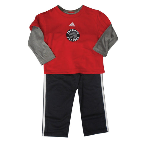 Toronto Raptors Adidas Toddler Free Throw L/S Pant Set