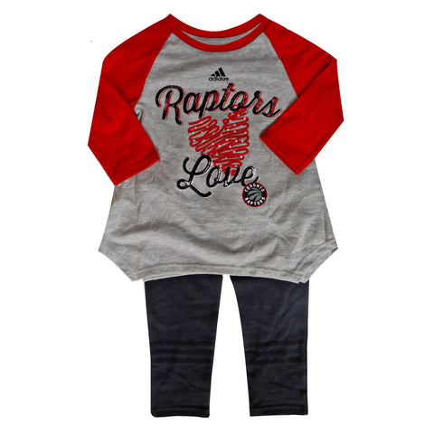 Toronto Raptors Child Alley Oop Top and Legging Set