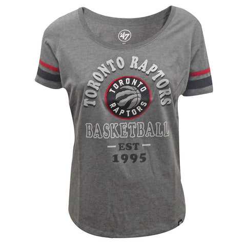 Toronto Raptors '47 Brand Ladies Fantasy Scoop Grey S/S Tee