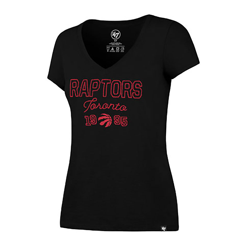Toronto Raptors 47 Brand Ladies Melrose V-Neck Tee