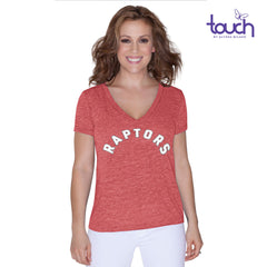 Toronto Raptors Touch Ladies Jersey Tri Blend Short Sleeve Shirt