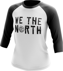 Raptors Mitchell & Ness Ladies Balled 'We the North' Raglan