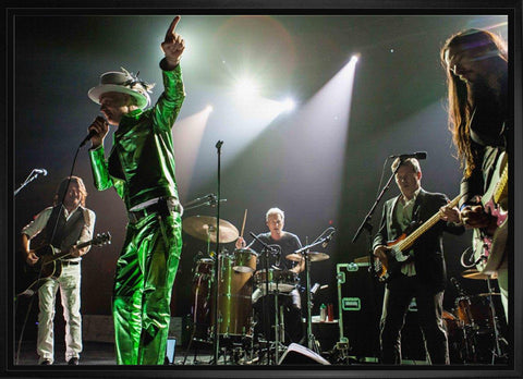 "The Tragically Hip ""The Band Photo with Downie in Green"" on Canvas Framed"