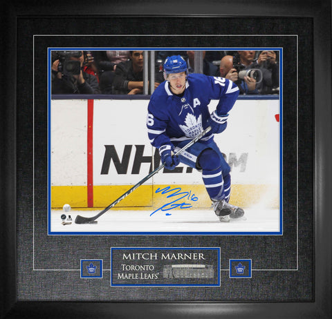 "Mitch Marner Signed 16""x 20"" Maple Leafs Photo Framed"