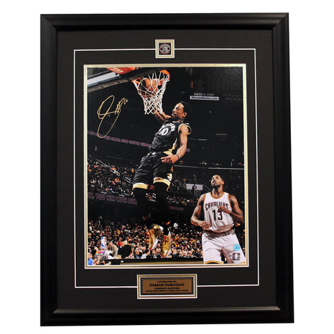 DeRozan Signed Toronto Raptors 16 x 20 Photo Framed
