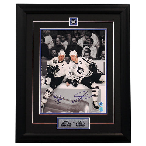 Sundin and Gilmour Duo Signed 11 x 14 Photo Framed