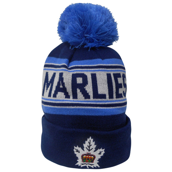 Toronto Marlies Youth Scripted Cuffed Pom Toque