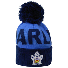 Toronto Marlies Child Wordmark Cuffed Pom Toque