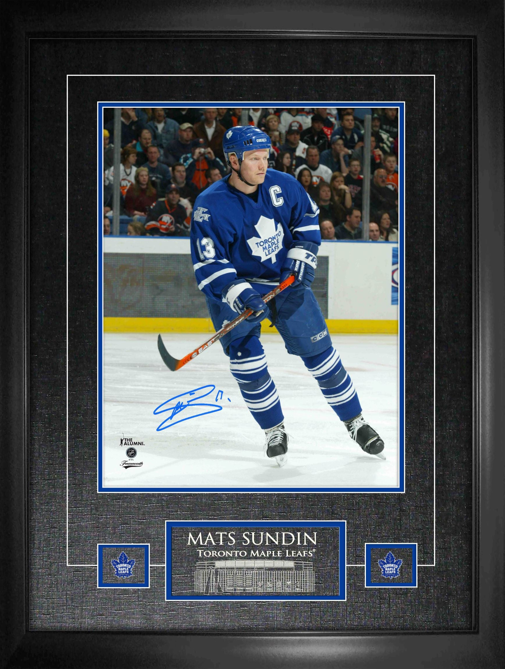 "Mats Sundin Maple Leafs Signed 11""x 14"" Photo Framed"
