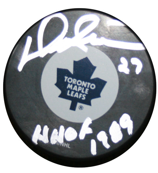 Darryl Sittler Signed Maple Leafs Puck