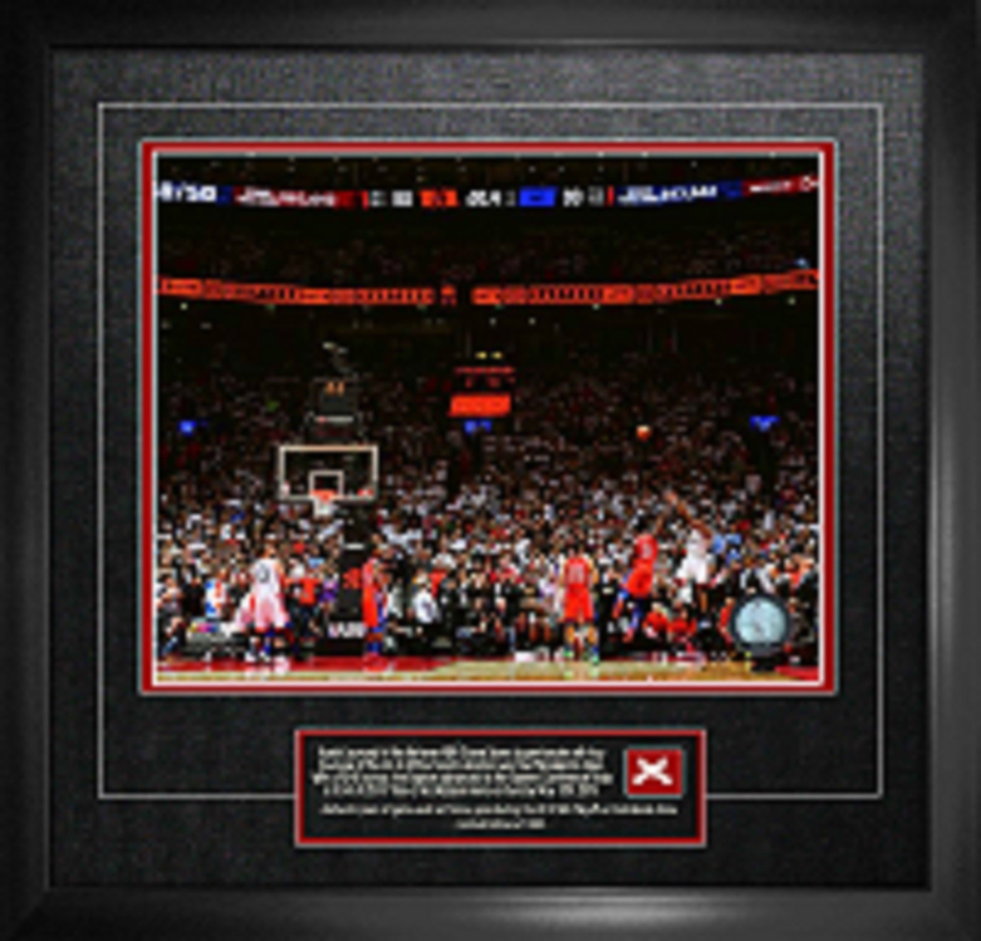 Raptors Kawhi Leonard Unsigned Game 7 Buzzer Beater vs Philadelphia with Game-Used Netting Framed
