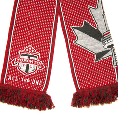 Toronto FC All For One Split Leaf Scarf