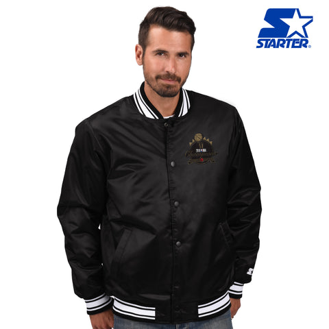 Raptors Starter 2019 NBA Champs Men's Satin Jacket