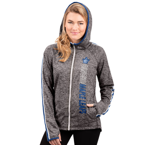 Maple Leafs GIII Ladies Gridiron Full Zip Hoody