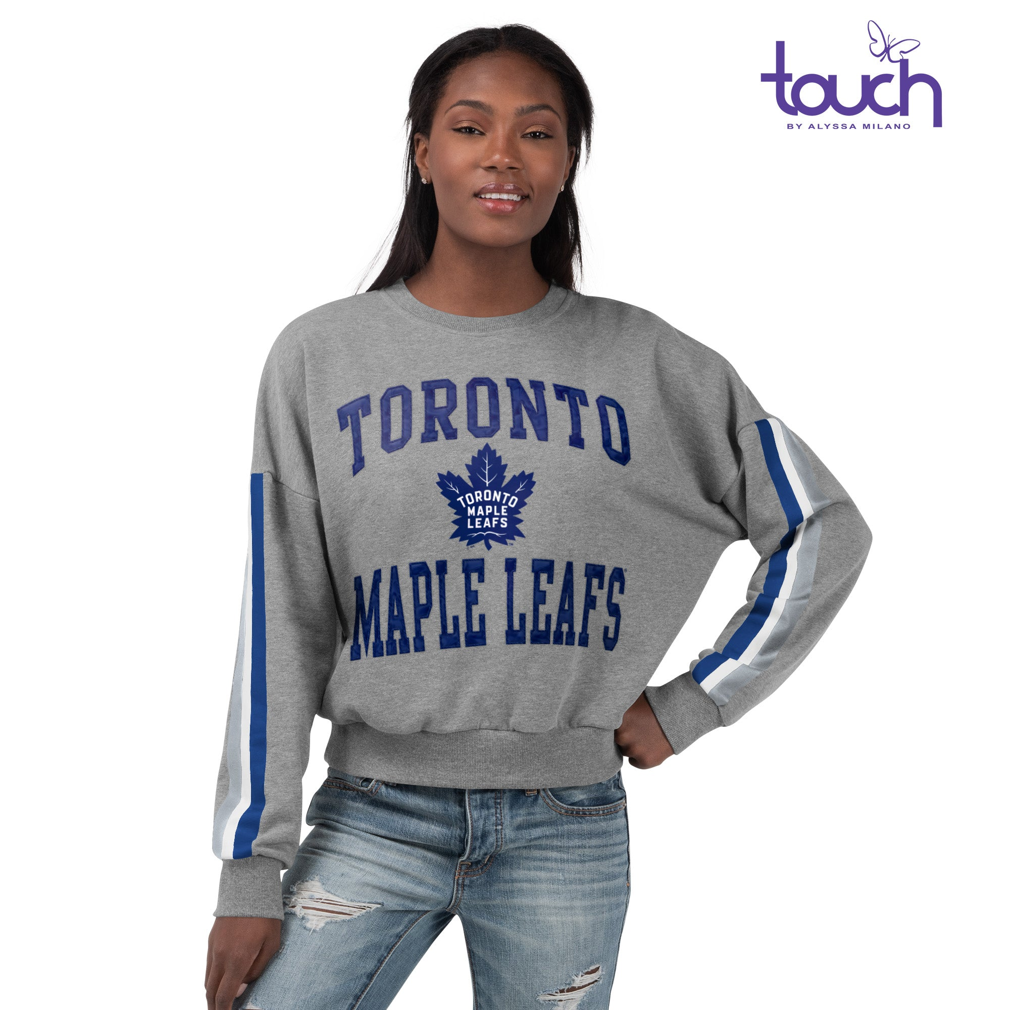 Maple Leafs Touch Ladies Freshman Crew Sweater
