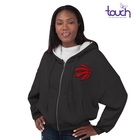 Raptors Touch Ladies Huddle Up Full Zip Hoody