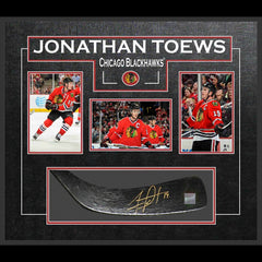 Jonathan Toews Signed Blackhawks Stick Blade Framed