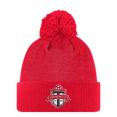 Toronto FC Adidas Men's Authentic Cuffed Pom Beanie