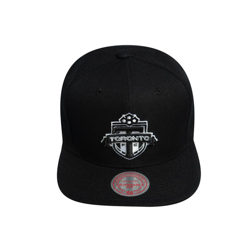 Toronto FC Mitchell & Ness Men's Black & White Solid Snapback