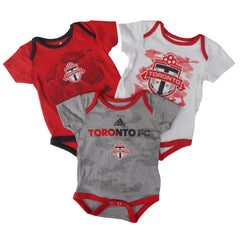 Toronto FC Adidas Infant Hat Trick 3 Pack Creeper Set