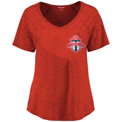Toronto FC Ladies Logo V-Neck S/S Tee