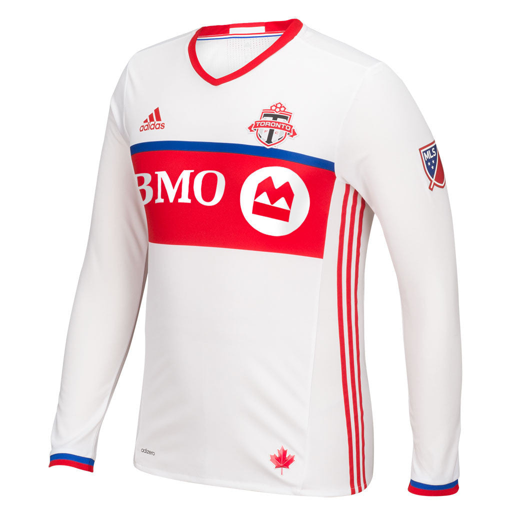 Toronto FC Adidas Men's Authentic 2016 L/S Away CUSTOM Jersey - shop.realsports - 1