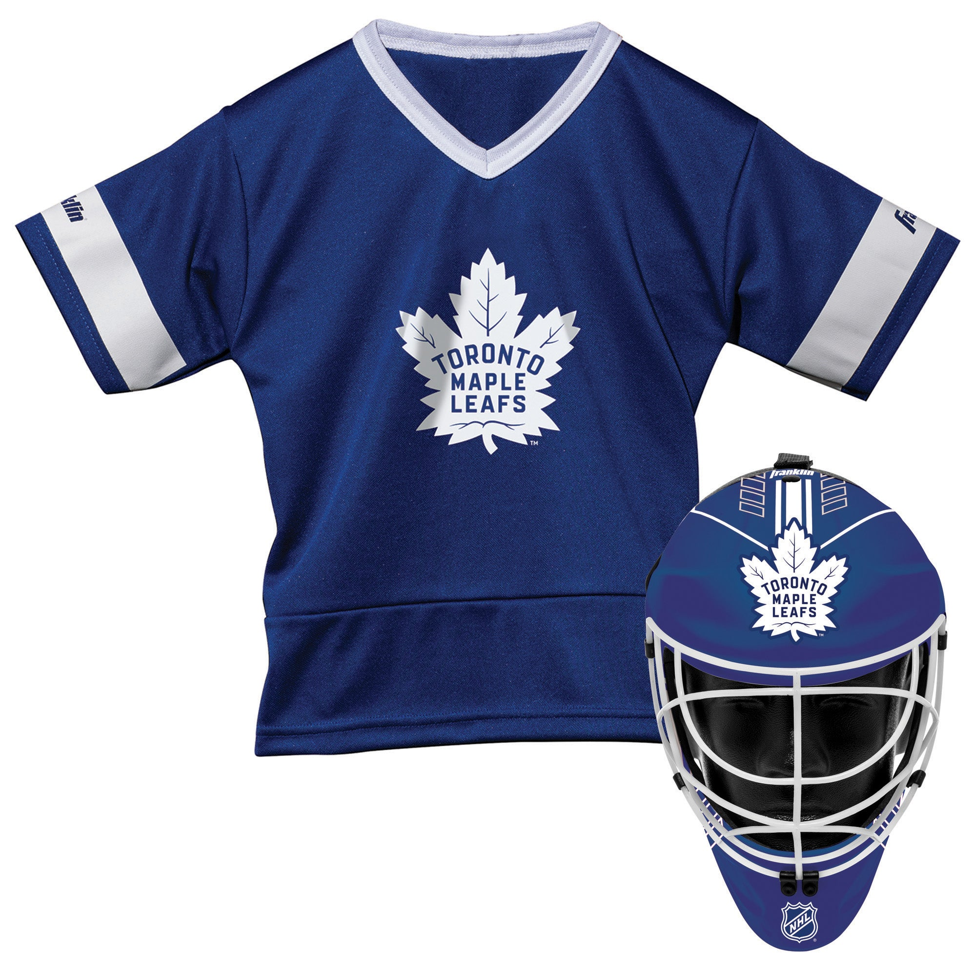 Maple Leafs Franklin Mask and Jersey Set