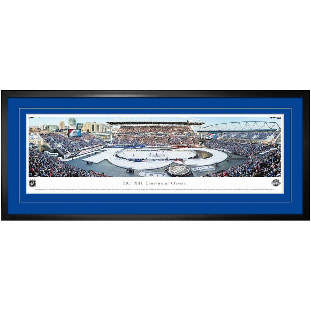 toronto maple leafs centennial classic event panoramic deluxe frame shoprealsports