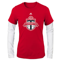 Toronto FC Youth Girls Fashion Layered Tee
