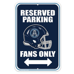 Toronto Argos Mustang Parking Sign