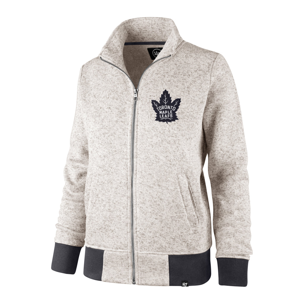 Maple Leafs 47 Brand Ladies Kodiak Full Zip Sweater
