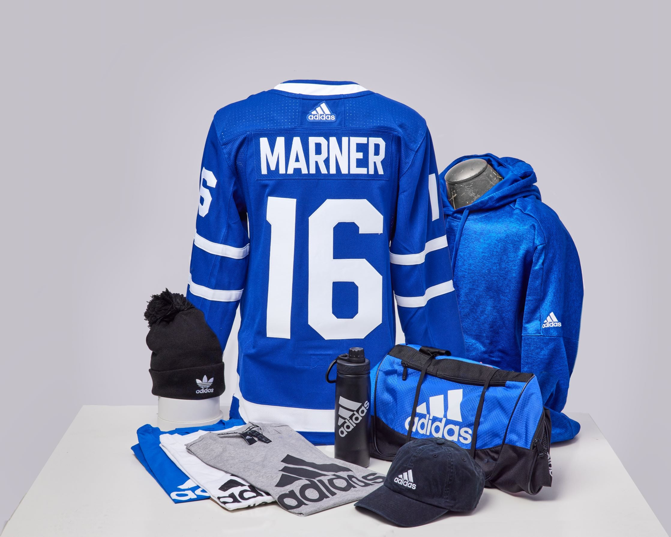 Maple Leafs Adidas Authentic Men's Home Jersey + Adidas Pack - MARNER