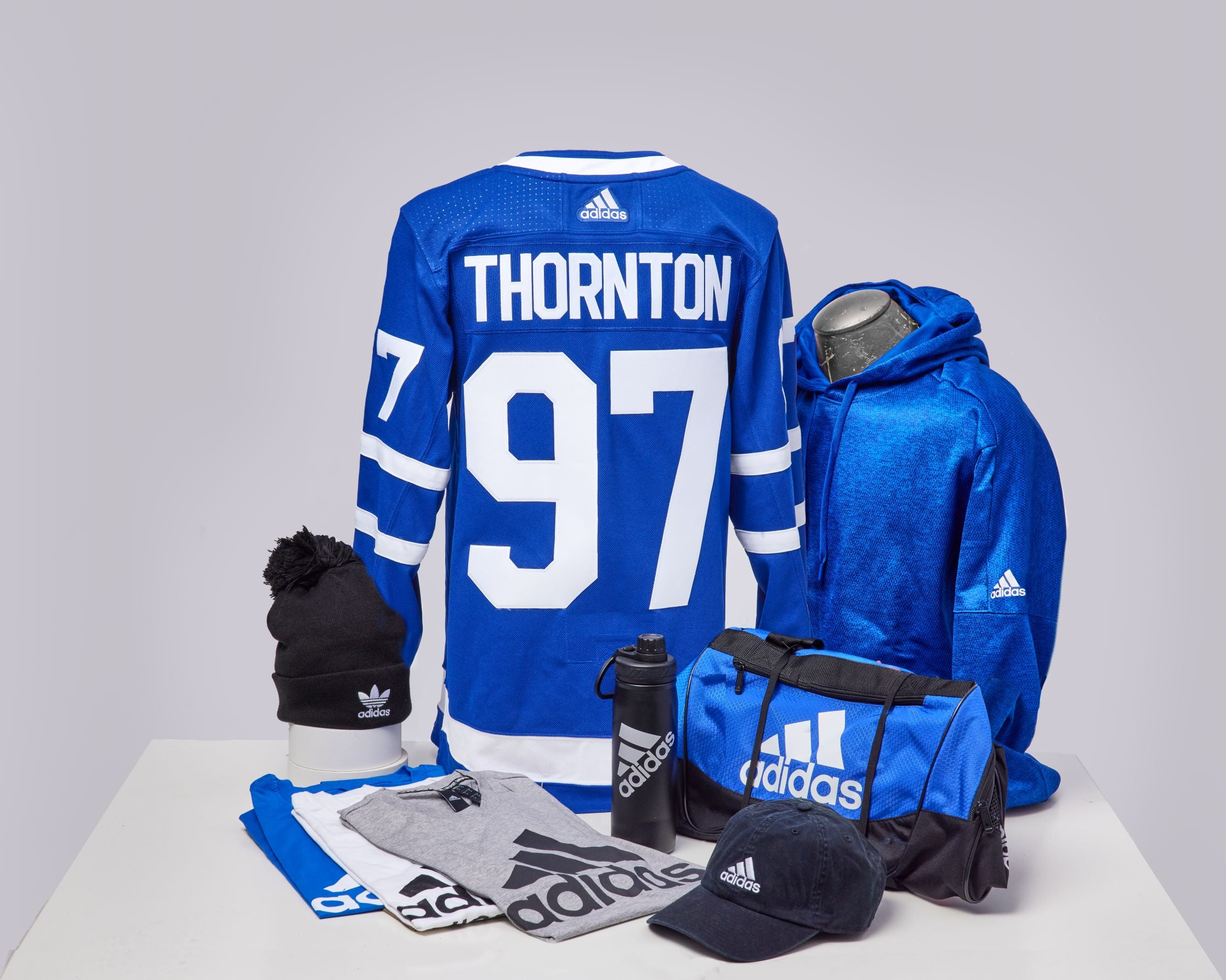 Maple Leafs Adidas Authentic Men's Home Jersey + Adidas Pack - THORNTON