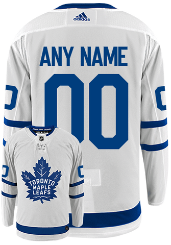 Maple Leafs Adidas Authentic Men's Away Jersey - CUSTOM