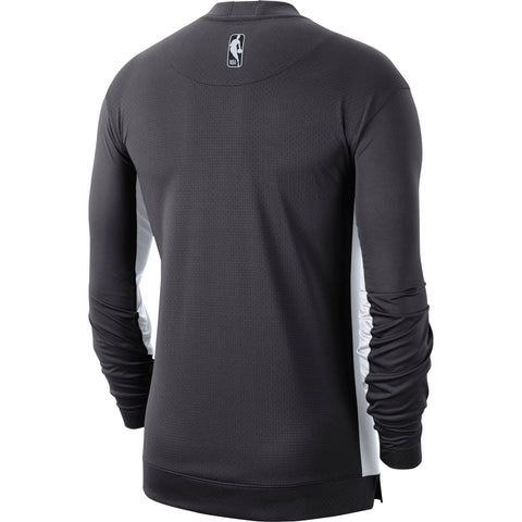 Raptors Nike Men's Authentic Long Sleeve Shooting Top - GREY