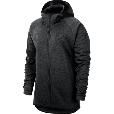 Raptors Nike Ladies Showtime Full Zip Hoody - BLACK