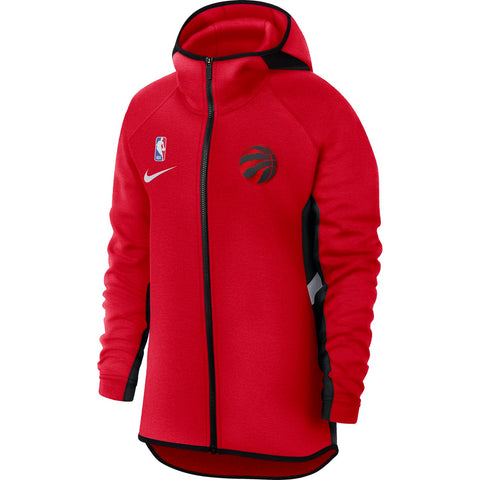 Raptors Nike Ladies Showtime Full Zip Hoody - RED