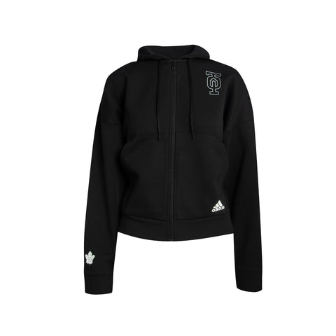 Maple Leafs Adidas Ladies TO Outline Full Zip Hoody