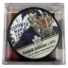 Maple Leafs Andersen Player Cube Puck